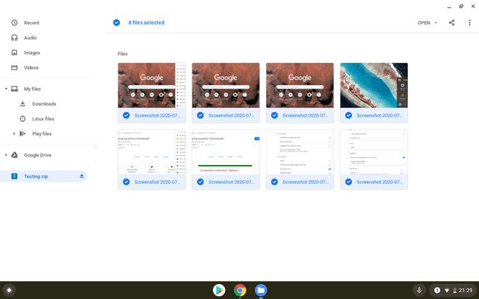 Chromebookでファイルを解凍する方法