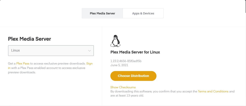 パーソナル メディア サーバーにするPlex Media Server